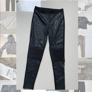 Mango faux leather leggings size Large.